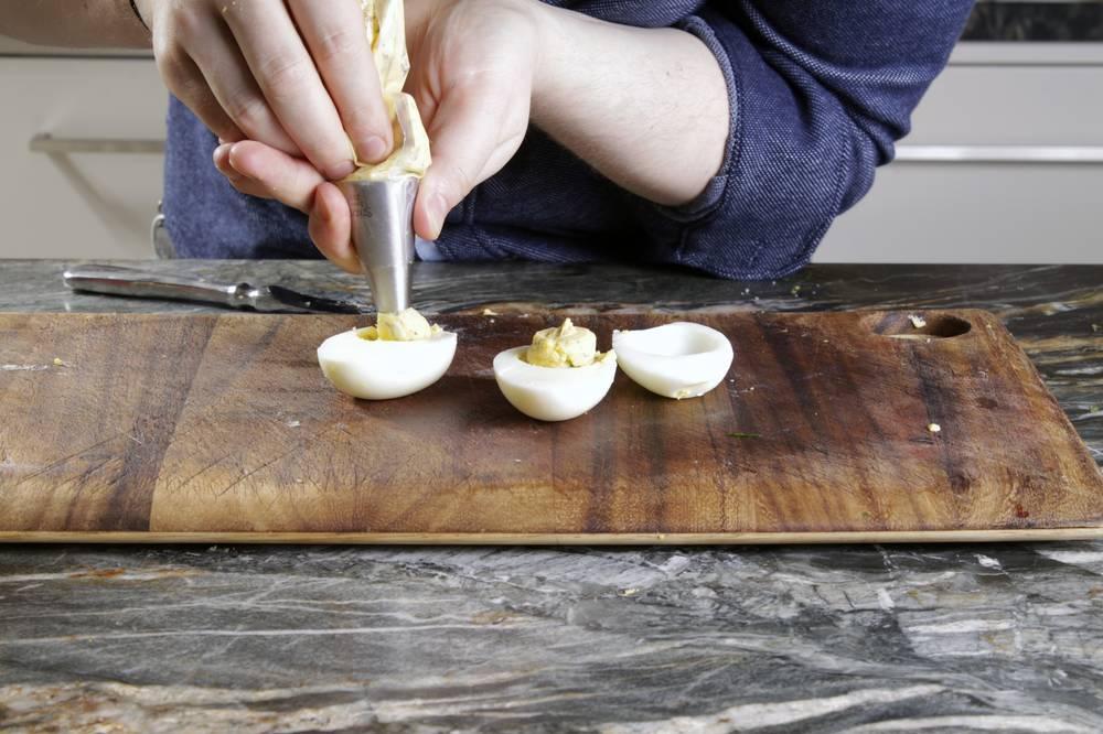 Eier füllen