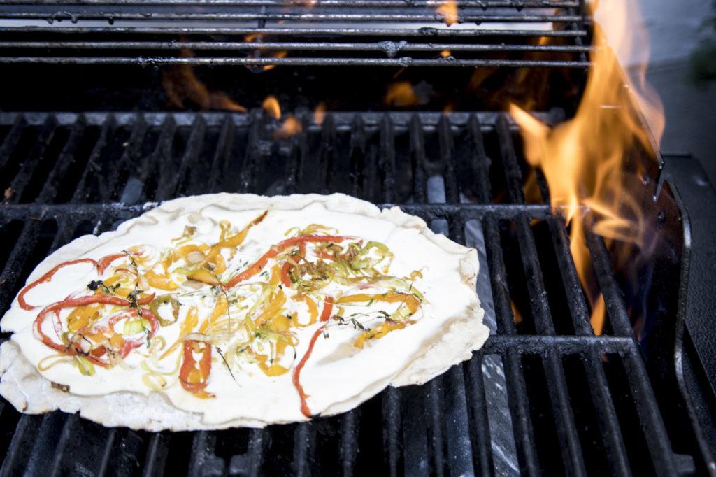 Flammkuchen am Grill