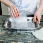 Reispapier einweichen