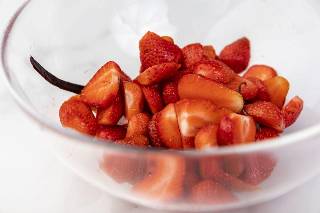 Erdbeeren marnieren