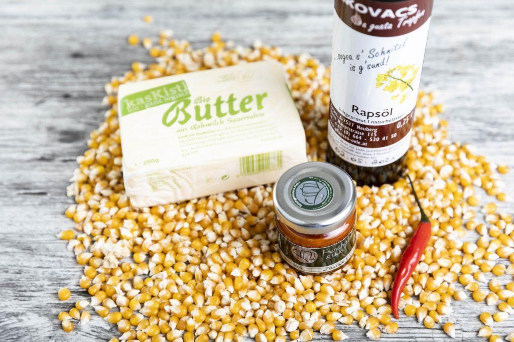 Zutaten für Popcorn | Foto (c) Julian Kutos