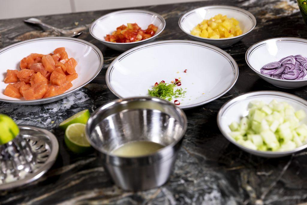 Bunte Zutaten für die Ceviche - Foto (c) Julian Kutos