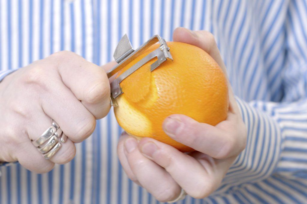 Orangenschale für viel Geschmack